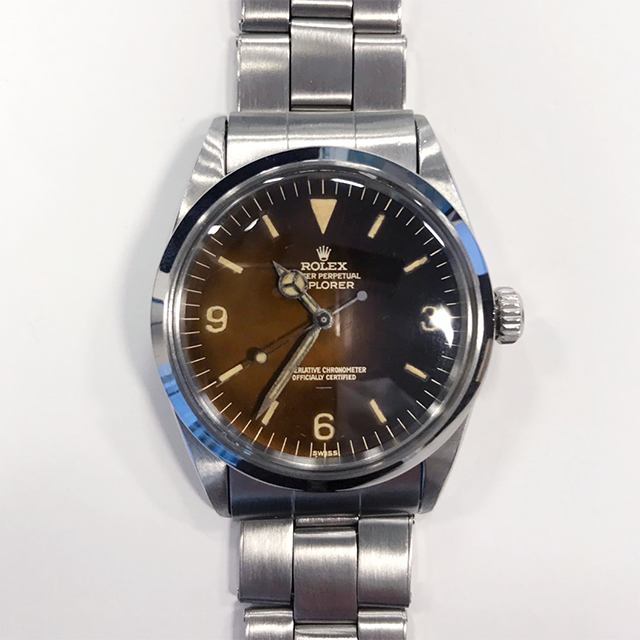 ROLEX EXPLORER Ref.1016 Tropical Gilt Underline