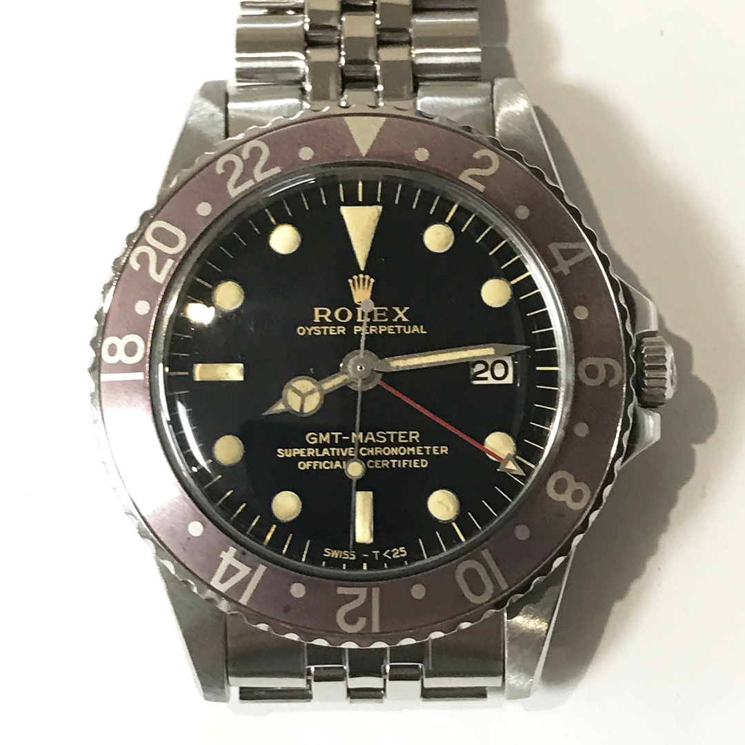 ROLEX GMT MASTER 1675 GILT DIAL Full Set