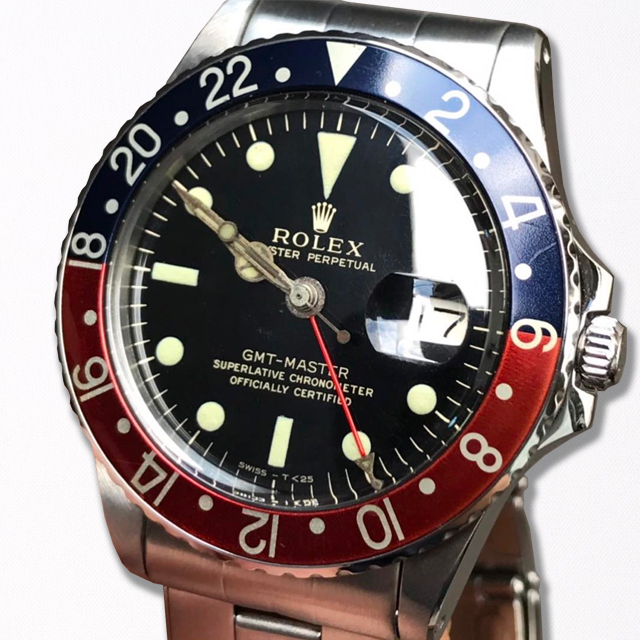 ROLEX GMT MASTER 1675 GILT DIAL Full Gross Top Condition