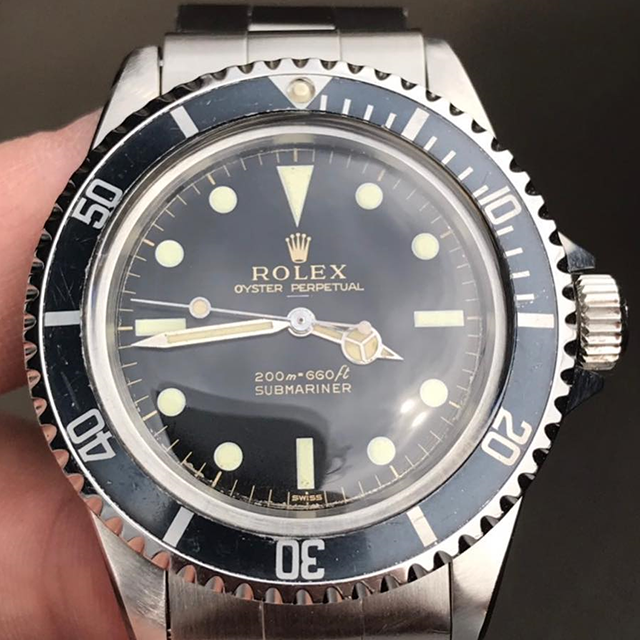 ROLEX SUBMARINER Ref.5513 Gilt Underline